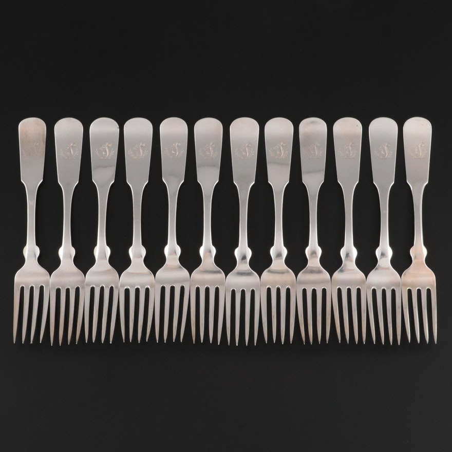 The House of Philip Oriel Sterling Silver Forks, Early to Mid-20th Century