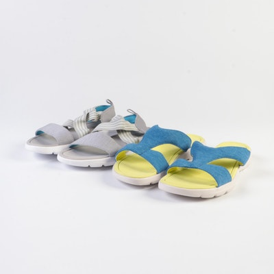 Lands' End Gatas Slides in Cobalt Sky and Flats in Gray Heather
