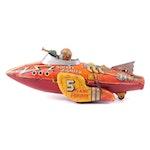 "Marx ""Flash Gordon"" Tin Lithograph Rocket Fighter Wind-Up Toy, circa 1930"