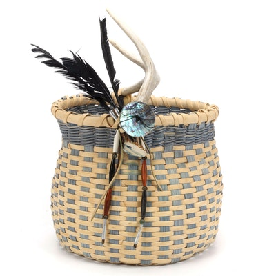 Kathi Hess Handwoven Artisan Decorative Basket