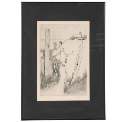 """Etching """"First Impressions,"""" Mid-Late 20th Century"""