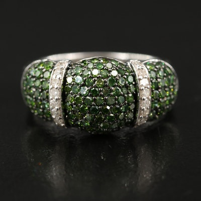 Sterling Silver Pavé 1.00 CTW Diamond Ring