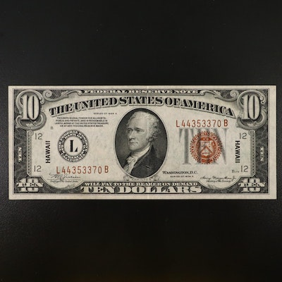 Series of 1934A Hawaii Overprint $10 Federal Reserve Note