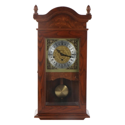 Charter House Inc. Wooden Wall Clock, Late 20th Century