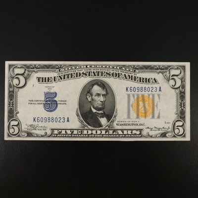 Series of 1934A $5 Silver Certificate