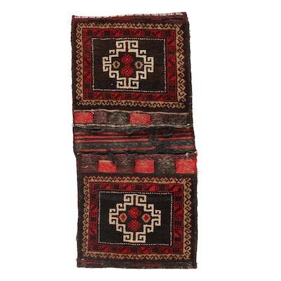 1'5 x 3'1 Handwoven Persian Kurdish Saddle Bag, 1960s