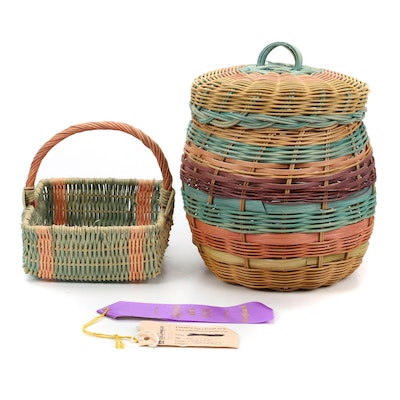 Handwoven and Dyed Decorative Baskets