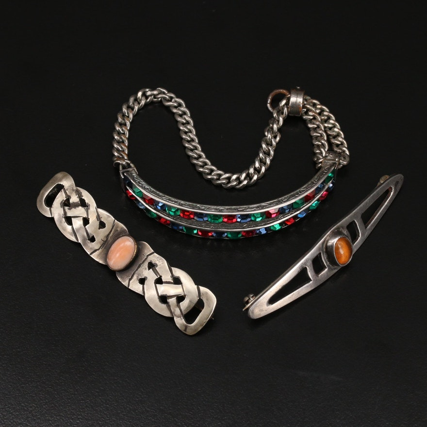 Jewelry Selection Including Sterling and Gemstones