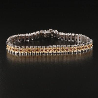 14K Zircon Bracelet