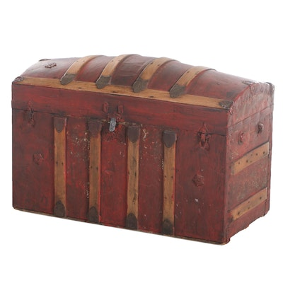 Late Victorian Steamer Trunk, Late 19th/ Early 20th Century
