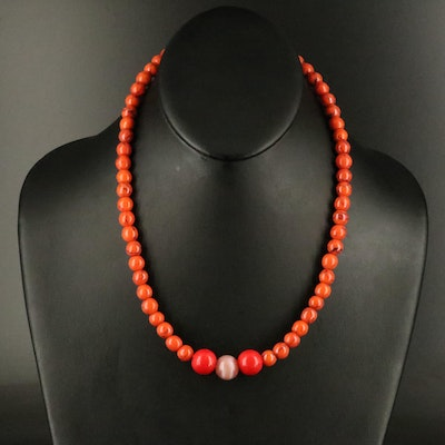 Endless Glass Beaded Necklace