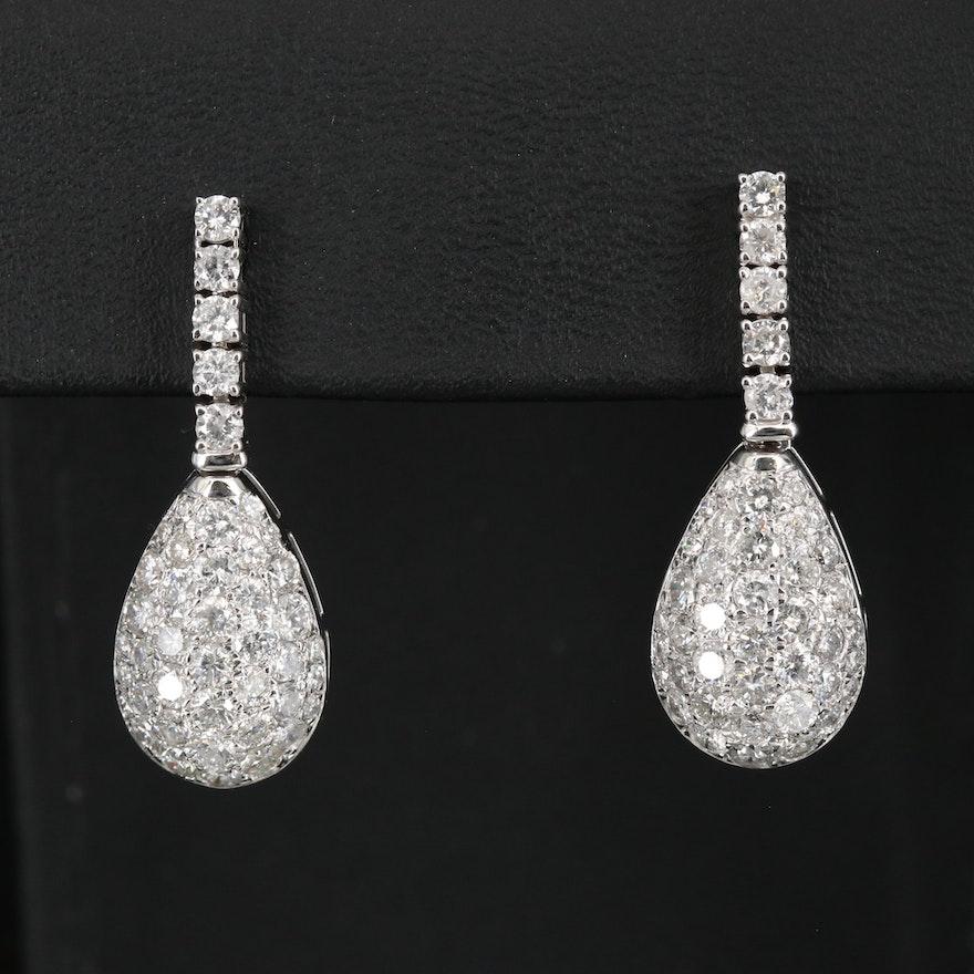 14K 3.55 CTW Diamond Teardrop Earrings