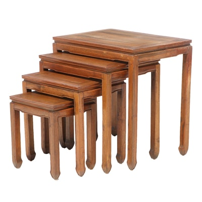 Set of Chinese Hardwood Quartetto Tables