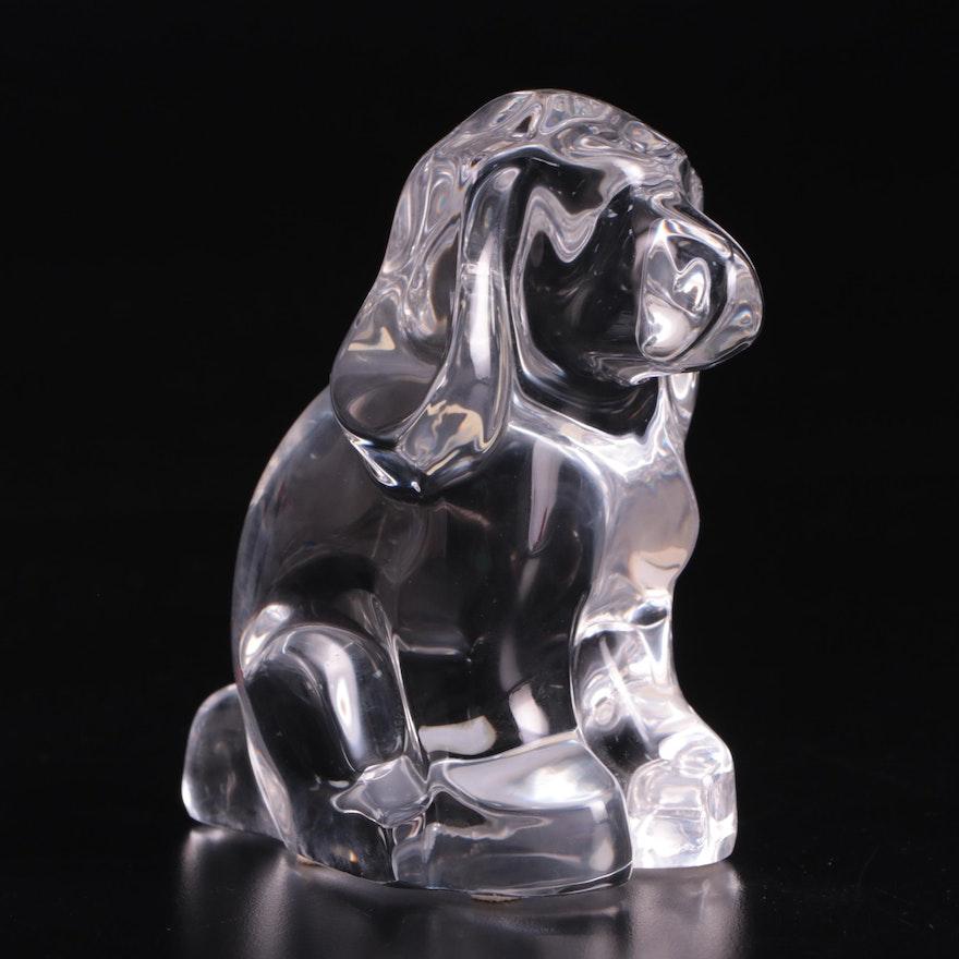 "Orrefors ""Puppy Dog"" Crystal Figurine"