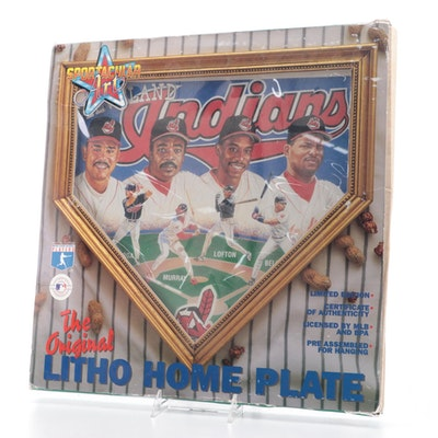 1996 Cleveland Indians Litho Home Plate
