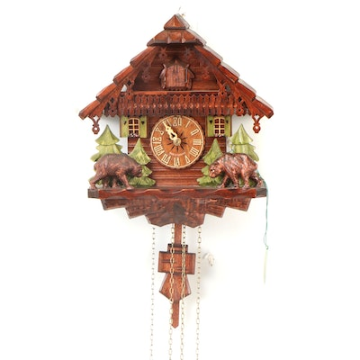 Kammerer Black Forest Carved Cuckoo Clock, Late 20th Century