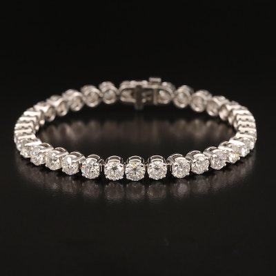 14K 14.00 CTW Diamond Line Bracelet with IGI Report