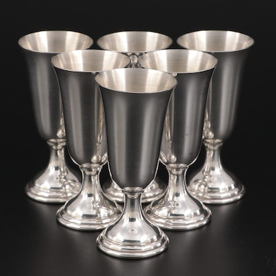 Tuttle Sterling Silver Cordial Cups, Mid-20th Century