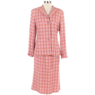 Doncaster Pink and Orange Tweed Skirt Suit