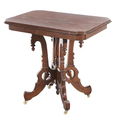 Renaissance Revival Walnut Center Table, Late 19th Century