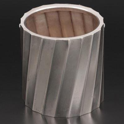 Cartier Sterling Silver Ice Bucket, circa 1960