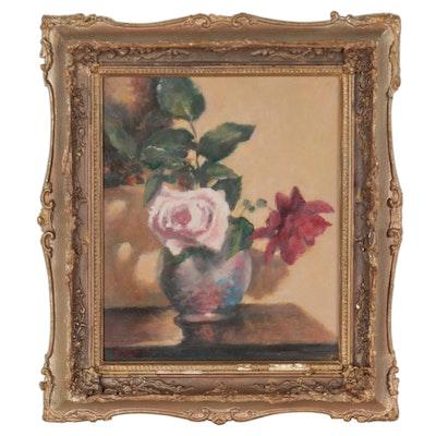 Kevin Kasik Floral Still Life Oil Painting, 2021