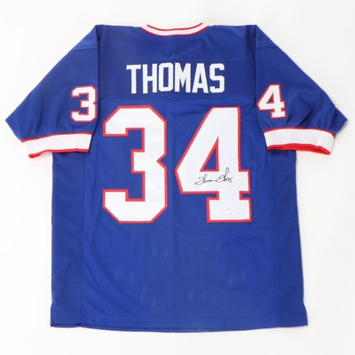 Thurman Thomas Signed Buffalo Bills NFL Replica Football Jersey, JSA COA