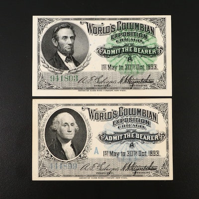 World's Columbian Exposition Admission Tickets, 1893