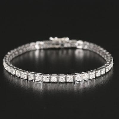 14K 3.43 CTW Diamond Tennis Bracelet