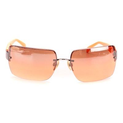 Chanel 4107-B Semi-Rimless Sunglasses with Case