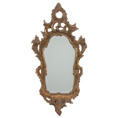 Rococo Style Carved Giltwood Wall Mirror, Antique