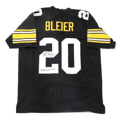 Rocky Bleier Signed Pittsburgh Steelers NFL Replica Football Jersey, JSA COA