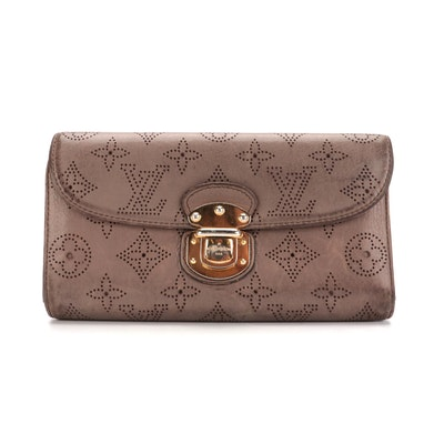 Louis Vuitton Amelia Mahina Monogram Perforated Leather Wallet