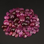 Loose 79.73 CTW Mixed Cut Ruby
