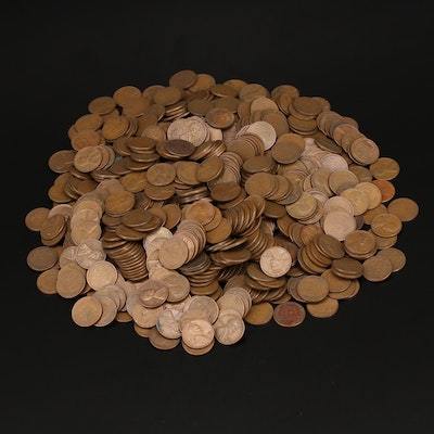 Large Collection of Assorted Date Lincoln Wheat Cents, 1930s–1950s
