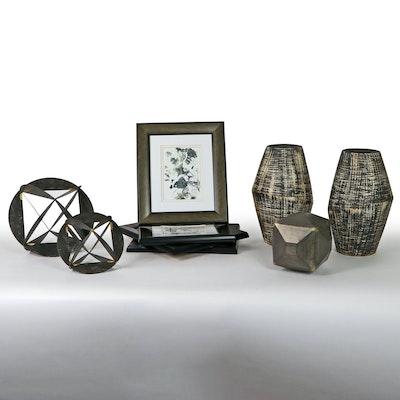 "June Erica Vess Giclées ""Cloud Farm"" Series, Ceramic Vases, & Metal Sculptures"