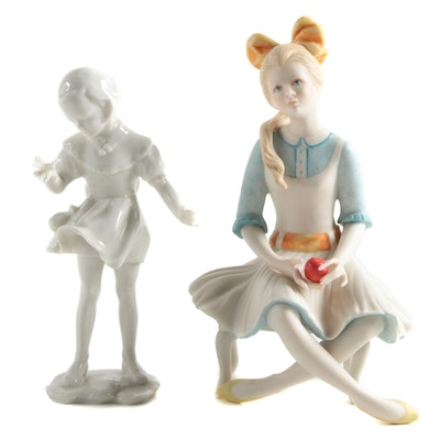 Cybis and Lorenz Hutschenreuther Porcelain Figurines, Late 20th Century