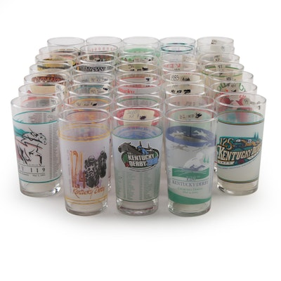 Kentucky Derby Julep Glasses, Including 1974 - 1977, 1983 - 2009 and More