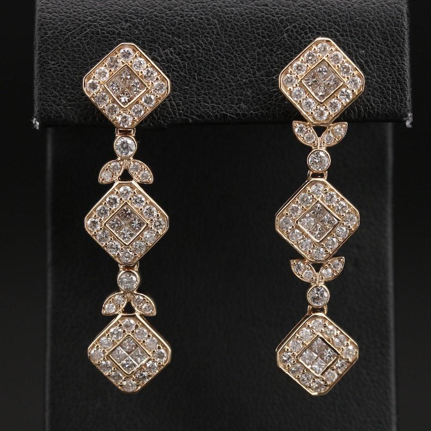 14K 3.50 CTW Diamond Earrings
