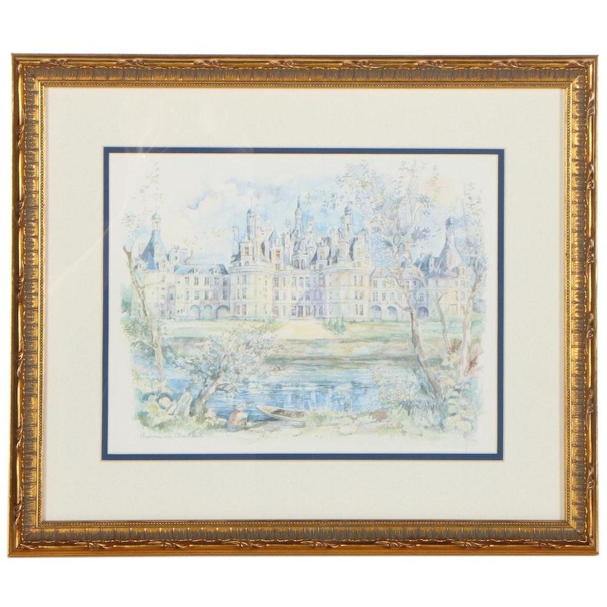 """Offset Lithograph After Legai """"Chateau de Chambord"""""""