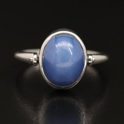 14K Star Sapphire Swivel Ring