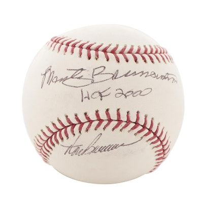 Marty and Thom Brennaman Signed Rawlings Major League Baseball, CEI COA