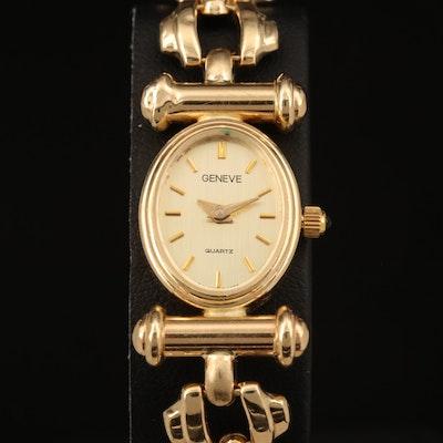 Geneve 14K Yellow Gold Quartz Wristwatch