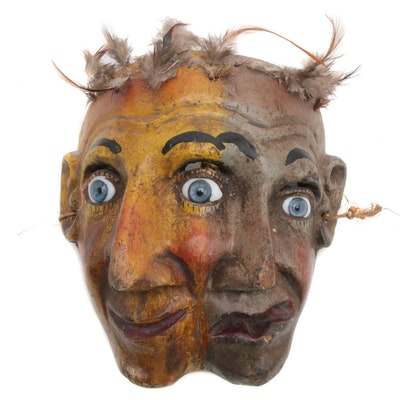 Mexican Double-Faced Wood Mask