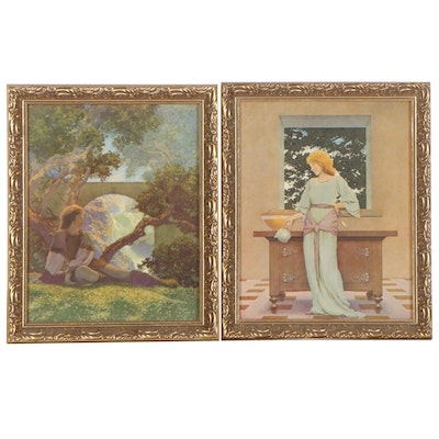 """Offset Lithographs After Maxfield Parrish """"The Prince"""" and """"Lady Violetta"""""""