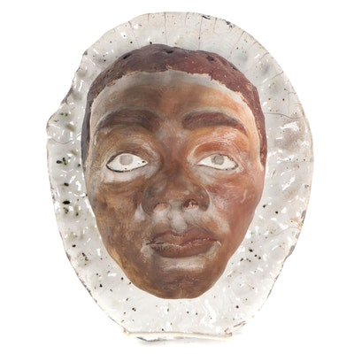 Ceramic Portrait Wall Hanging, 21st Century