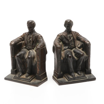 Gift House Inc. Abraham Lincoln Cast Bronze Book Ends