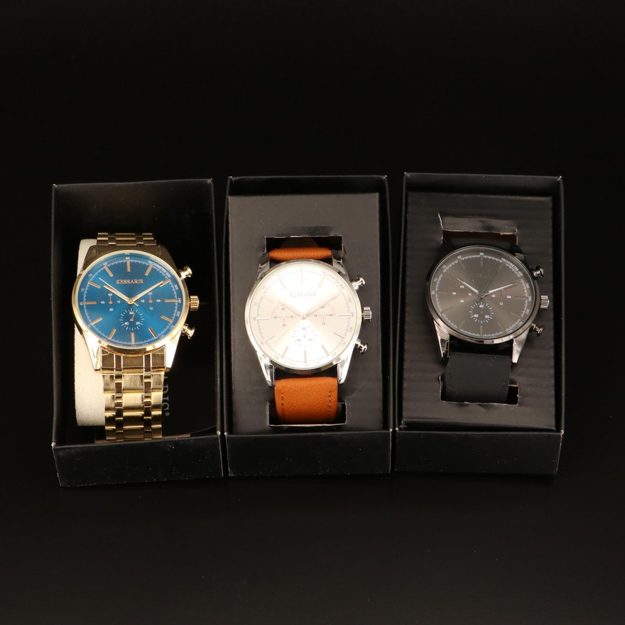 Collection of Kessaris Quartz Wristwatches