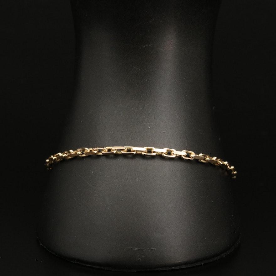 14K Cable Chain Link Bracelet