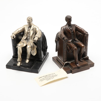 Jennings Brothers and Philadelphia Manufacturing Abe Lincoln Sculpture Bookends